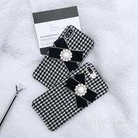 Houndstooth Ribbon iPhone case