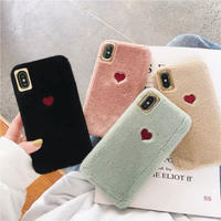 Furry Red Heart iPhone case