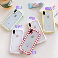 Macaron Color Frame iPhone case