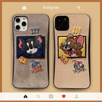 Jerry???&Tom!!! Embroidery iPhone case
