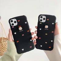 【Disney】Micky Minnie Black iPhone case