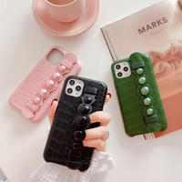 Green Pink Black Strap iPhone case