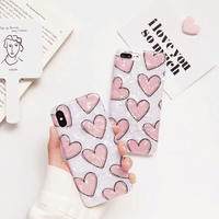 Pink Hearts Shell iPhone case