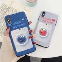 Elmo Cookie Monster Washing Machine iPhone case