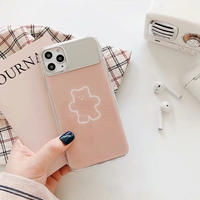 Beige Bear Mirror iPhone case