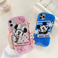 【Disney】Blue Pink Mickey Minnie iPhone case