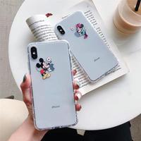 【Disney】Mickey&Minnie Heart Clear iPhone case
