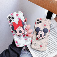 【Disney】Mickey&Minnie with Clip iPhone case