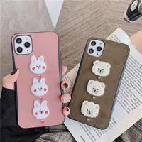 Rabbit Bear Winter iPhone case