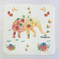 ガーゼハンカチ☆ピンクシリーズ☆フルーツぞうさん