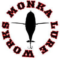 Monka Lure Works ステッカー (ホワイトサークル)