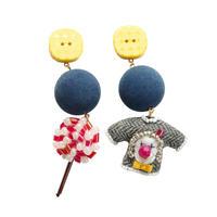 Lollipop & Sweater Pierce(blue)