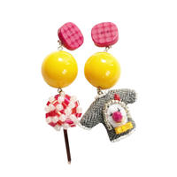 Lollipop & Sweater Pierce(yellow)