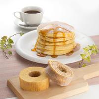 【福島市 バウムラボ樹楽里】ごえんバウム&おうちで作るパンケーキセット