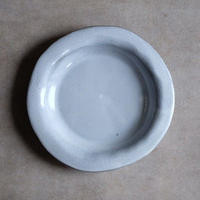 teto ceramic リムプレート・中・白透明釉(実物写真)