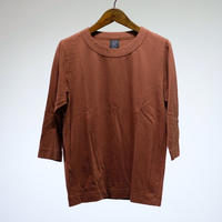homspun  / 天竺七分袖Tシャツ (ブラウン)