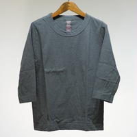 homspun  天竺七分袖Tシャツ・top ダークグリーン