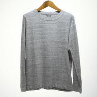 homspun / 天竺 長袖Tシャツ・粗挽杢チャコール