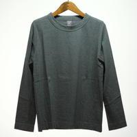 homspun / 天竺 長袖Tシャツ・top ダークグリーン