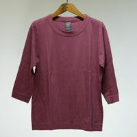 homspun /  天竺七分袖Tシャツ・バーガンディ