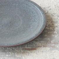 螢松窯 18センチ黒皿