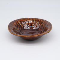 mouhitoaji / 茶色いスープ皿・飴色釉 (実物写真265)