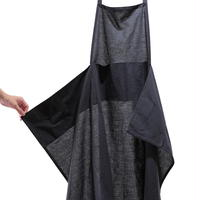 F/style 亀田縞のエプロン・黒鼠紺