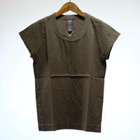 homspun / 天竺フレンチスリーブTシャツ (top カーキ)