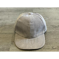 STUMP STAMP CORDUROY  CAP (LIGHT GREY)