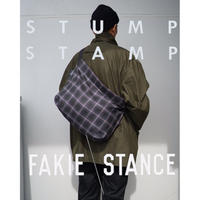 STUMP STAMP × FAKIE STANCE TARTAN CHECK LARGE SACOCHE(GREY)