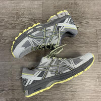 ASICS WOMENS GEL-KAHANA 8 (MID GREY/CARBON/LIMELIGHT) (27cm)