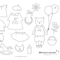 【 PDF 】Mon petit Coloriage  モンプチちゃん女の子