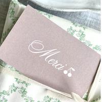 M-75 messagecard ★ cerise rose Merci  25枚