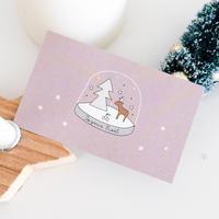 N-02 messagecard ★ スノードーム boule à neige rose 25枚