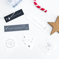 NT-01 Noël ★ mini tag  set  6種 x 5枚   計30枚