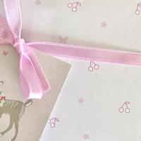 【クリックポスト】 10枚 ★ wrapping paper A3   Bonbon cerise papillon