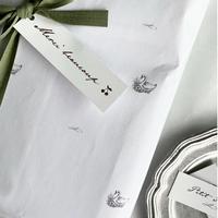 【クリックポスト】 10枚 ★ wrapping paper A3 Le lac des cygnes スワン