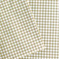 【ゆうパック】 50枚 ★ wrapping paper A3 carreaux moutarde ギンガムチェック マスタード