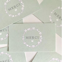 M-108 messagecard ★ couronne de fleur 25枚 vert