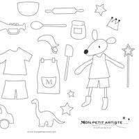 【 jpg 】Mon petit Coloriage   ムッシューねずみくん 男の子