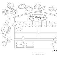【 jpg 】Mon petit Coloriage   パン屋さん  Boulangerie