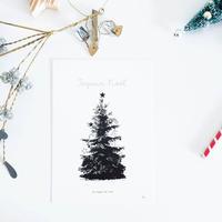 NPC-1 ミニポスターカード ★ Tree Joyeux Noël  A5size