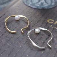 Inner pearl hoop cuff-6mm