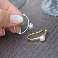outer pearl hoop cuff-6mm