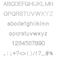 I/A Dots sans-Serif Regular Mac/Windows/Web