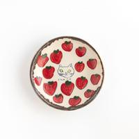 chato|3豆皿 ネコとイチゴ