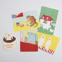 柴田ケイコ|お楽しみカードセット(しろくまコーヒーカード+お楽しみポストカード4枚)