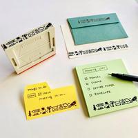 eric|組み合わせスタンプ 文房具柄