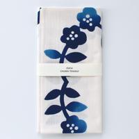 zucu|注染てぬぐい「花飾り/青」