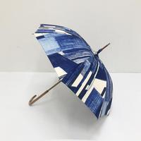 【6月号掲載分】YUMI YOSHIMOTO| KESHIKI 晴雨兼用傘 office street blue